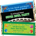 Super Bowl candy bar wrappers